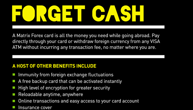 What is matrix forex card